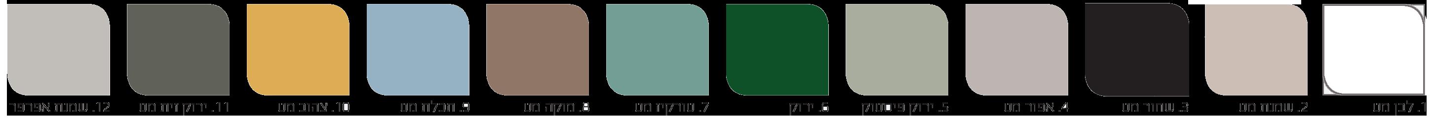 פלטת צבעים לארון