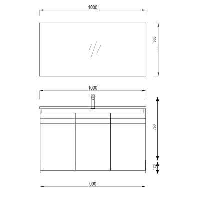 OPTIMAL STANDS סרטוט 3 דלתות
